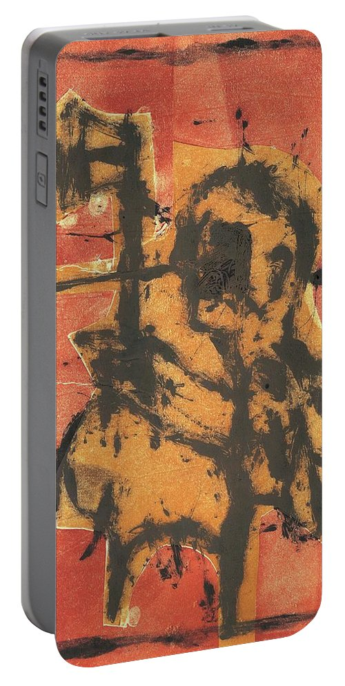 Axeman Portable Battery Charger featuring the relief Axeman 2 by Artist Dot