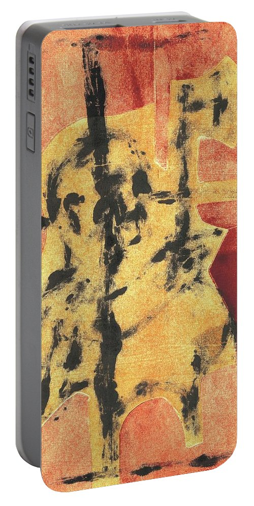 Axeman Portable Battery Charger featuring the relief Axeman 4 by Artist Dot