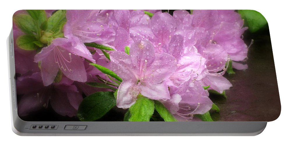 Deborah Crew-johnson Portable Battery Charger featuring the photograph Azalea Bouqet by Deborah Crew-Johnson