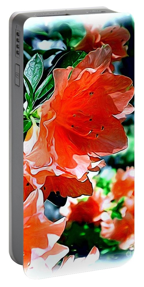 Fine Art Portable Battery Charger featuring the painting Azaleas In The Spring by Patricia Griffin Brett