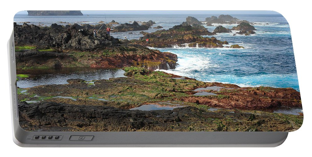 Atlantic Portable Battery Charger featuring the photograph Azores Seascape by Gaspar Avila