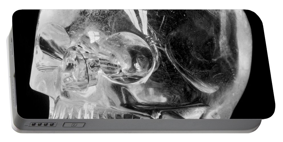15th Century Portable Battery Charger featuring the photograph Aztec Rock Crystal Skull by Granger