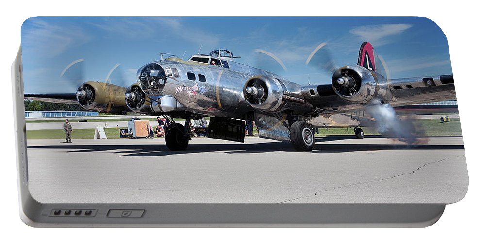 B-17 Flying Fortress Portable Battery Charger featuring the photograph B-17 Flying Fortress, Yankee Lady by Bruce Beck