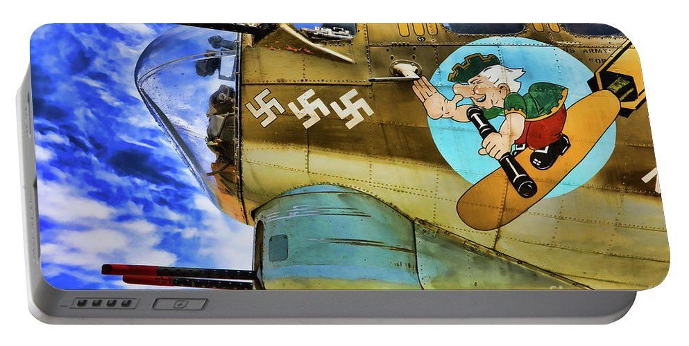 Wwii Portable Battery Charger featuring the photograph B-17 Paint by Chuck Kuhn
