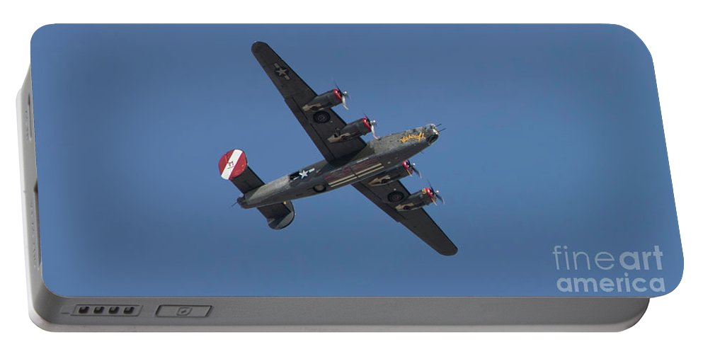 Wwii Portable Battery Charger featuring the photograph B-24j Liberator Wwii Fighter by Chuck Kuhn