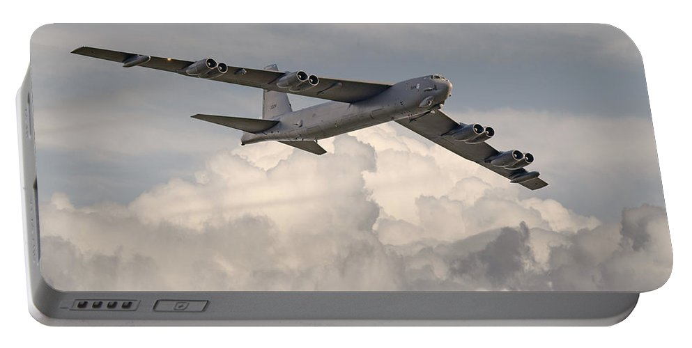 Aircraft Portable Battery Charger featuring the photograph B52-h by Pat Speirs