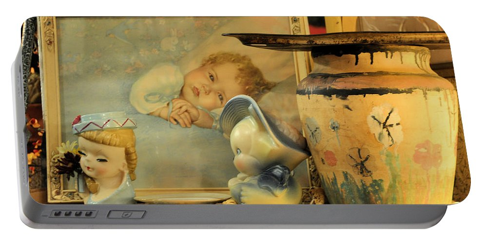 Antiques Portable Battery Charger featuring the photograph Baby Boy by Jan Amiss Photography