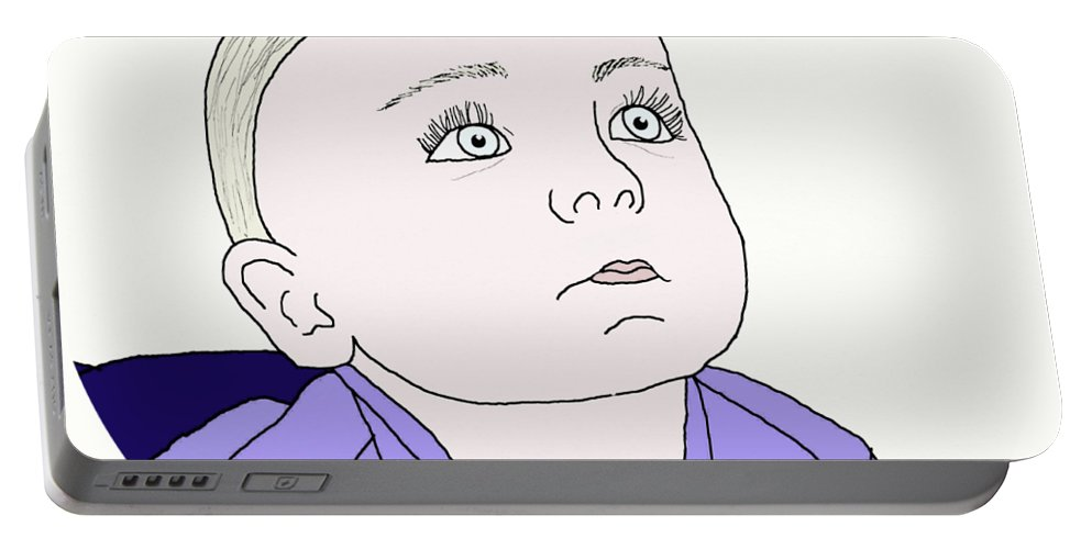 Baby Boy Portable Battery Charger featuring the digital art Baby Boy by Priscilla Wolfe