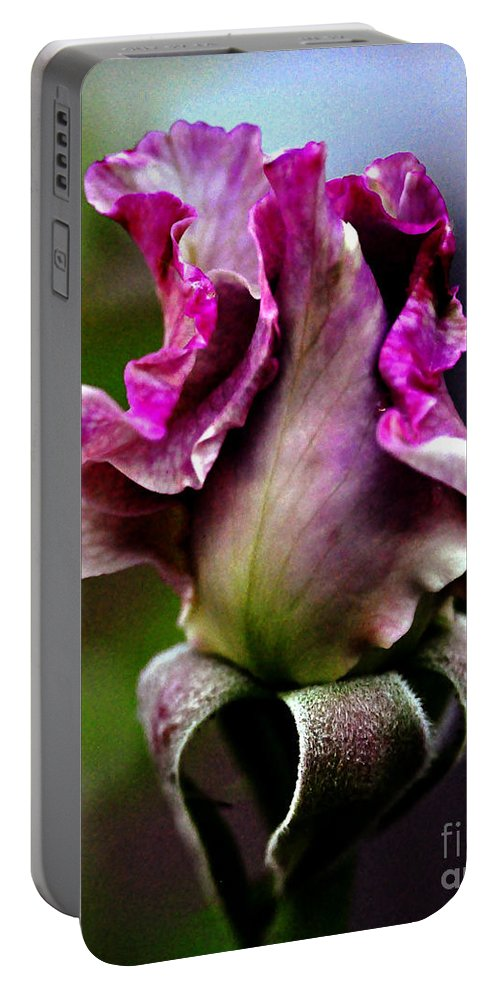 Clay Portable Battery Charger featuring the photograph Baby Bud by Clayton Bruster