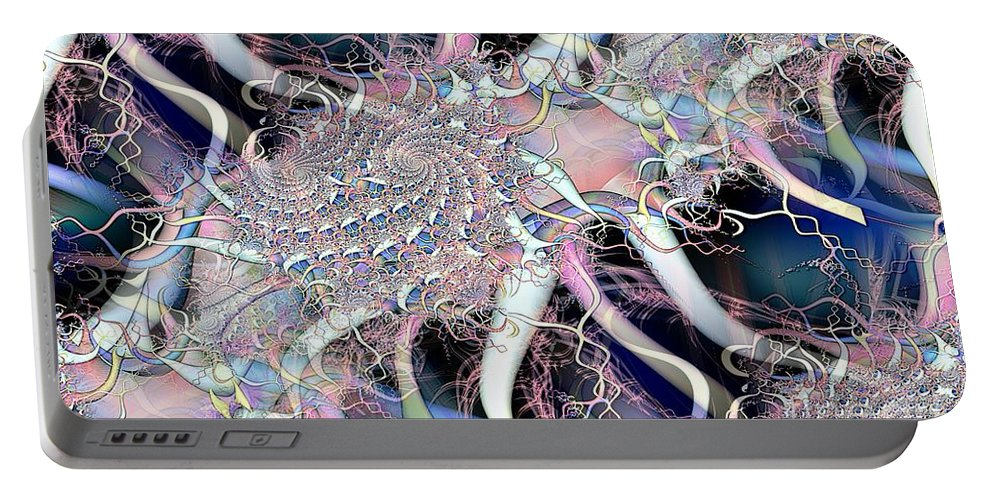 Baby Colors Portable Battery Charger featuring the digital art Baby Fractal 2 by Ron Bissett