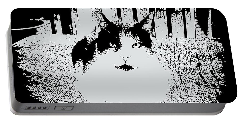 Cat Portable Battery Charger featuring the mixed media Baby by Robert Orinski