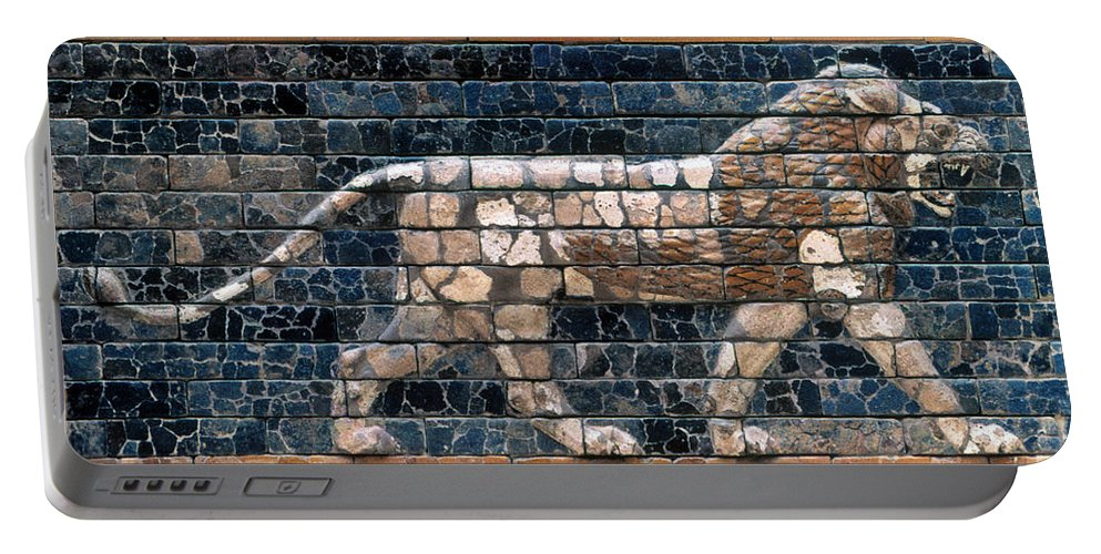 6th Century B.c. Portable Battery Charger featuring the photograph Babylon: Lion by Granger
