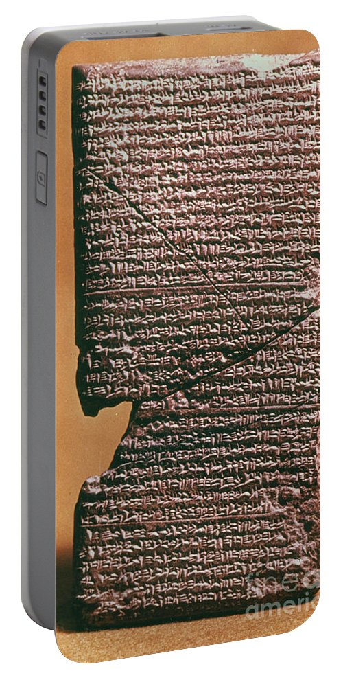 612 B.c. Portable Battery Charger featuring the photograph Babylonian Clay Tablet by Granger