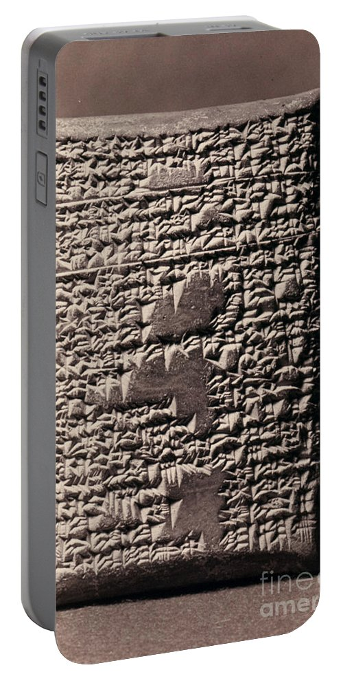 17th Century B.c. Portable Battery Charger featuring the photograph Babylonian Recipies by Granger