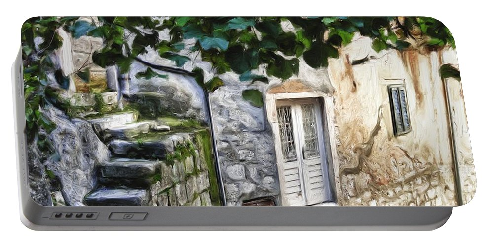 Alley Portable Battery Charger featuring the digital art Back Alley Living by Janet Fikar