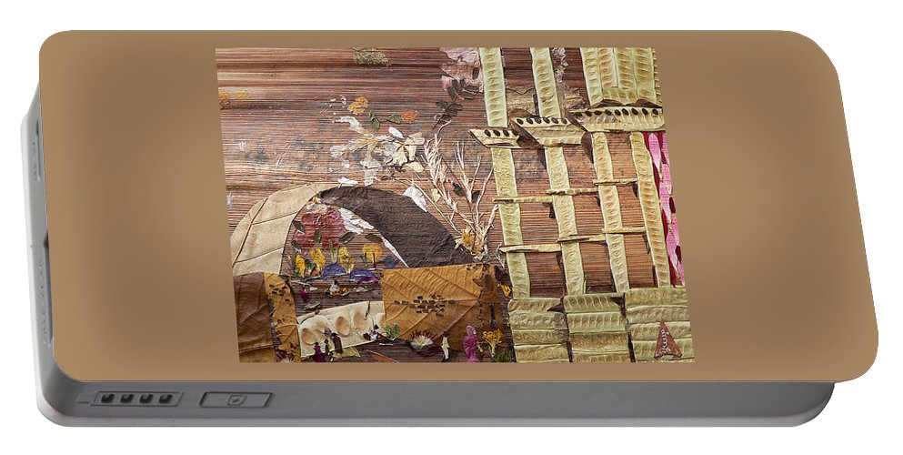 Back Door Entry For Relief To Disabled Portable Battery Charger featuring the mixed media Back Entry by Basant soni