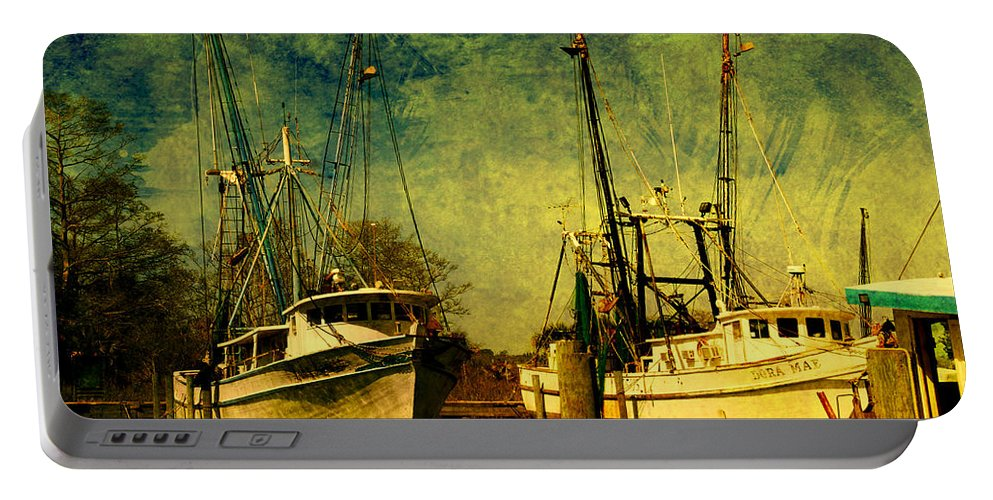 Harbor Portable Battery Charger featuring the photograph Back Home In The Harbor by Susanne Van Hulst