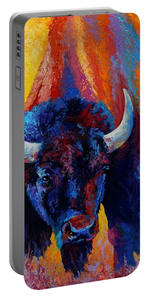 Wildlife Portable Battery Charger featuring the painting Back Off by Marion Rose
