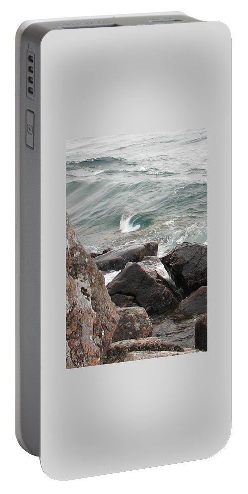 Wave Portable Battery Charger featuring the photograph Back Swirl by Kelly Mezzapelle