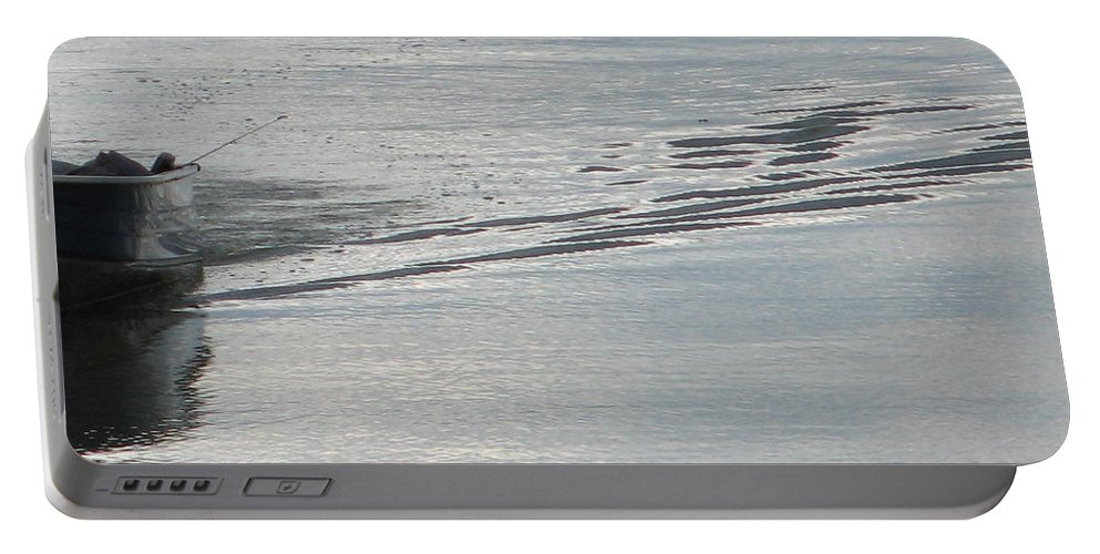 Lake Portable Battery Charger featuring the photograph Back to the Dock by Kelly Mezzapelle