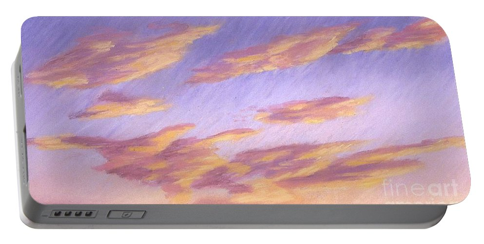 Sky Portable Battery Charger featuring the painting Backside Of Splender by Mary Erbert