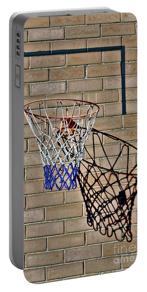 Basketball Portable Battery Charger featuring the photograph Backyard Basketball by Stephen Mitchell