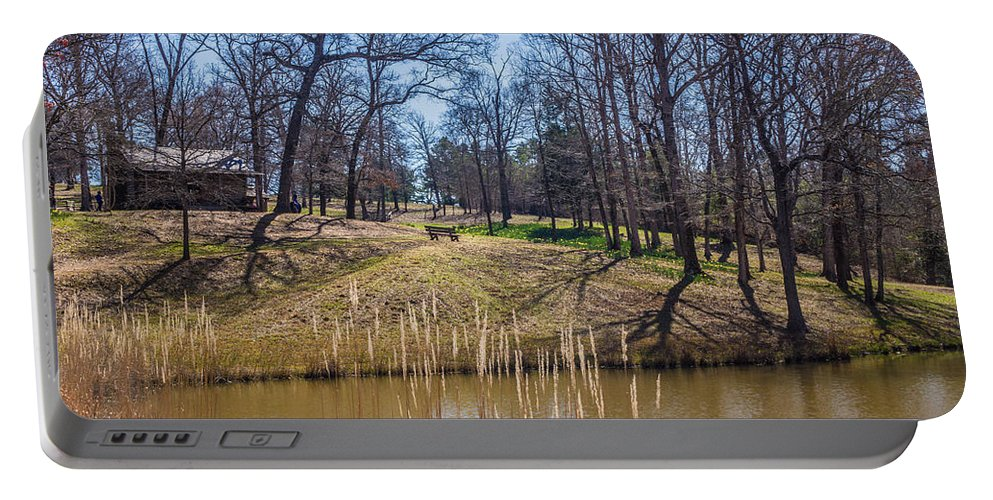 Darrell Portable Battery Charger featuring the photograph Backyard Solitude by Darrell Clakley