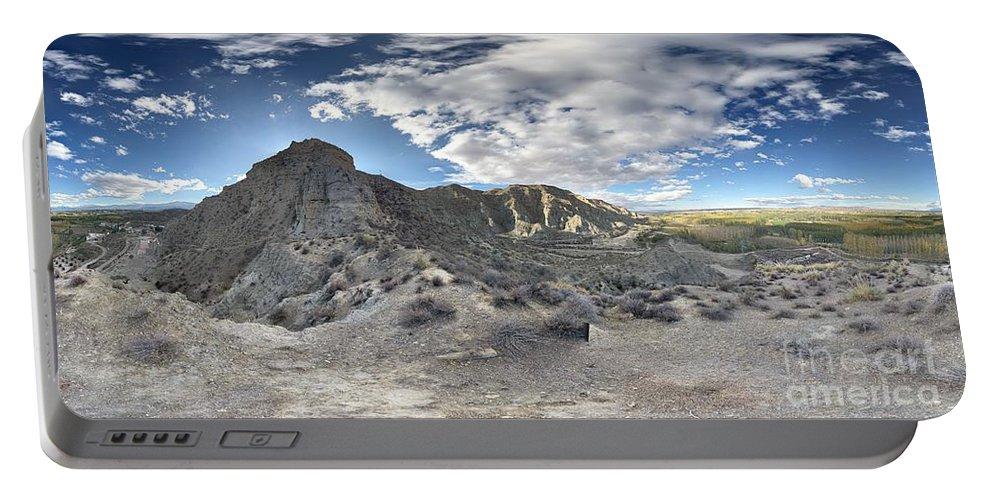 Bad Lands Portable Battery Charger featuring the photograph Bad Lands En La Provincia De Granada by Lucia Gamez