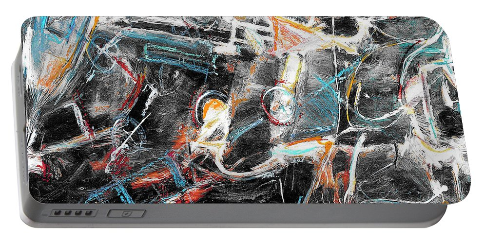 Abstraction Portable Battery Charger featuring the painting Badlands 2 by Dominic Piperata