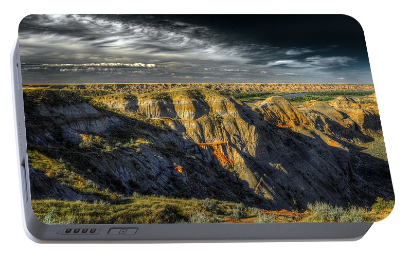 Badlands Portable Battery Charger featuring the photograph Badlands by Wayne Sherriff