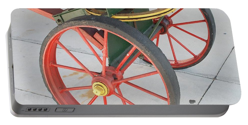 Baggage Cart Portable Battery Charger featuring the photograph Baggage Cart by Rob Hans