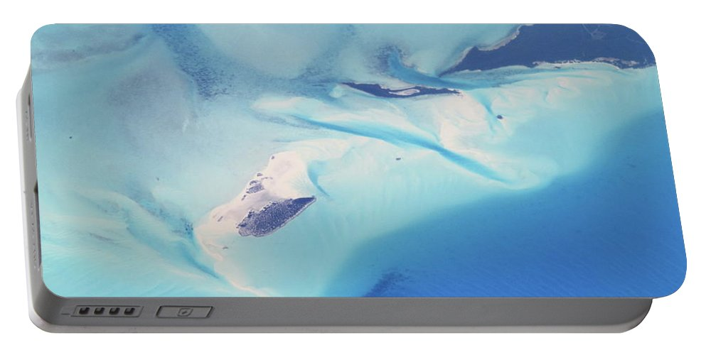 Bahamas Portable Battery Charger featuring the photograph Bahama Banks Aerial Seascape by Roupen Baker