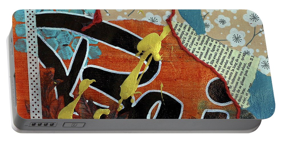 French Portable Battery Charger featuring the painting Baiser by Jennifer Fleming