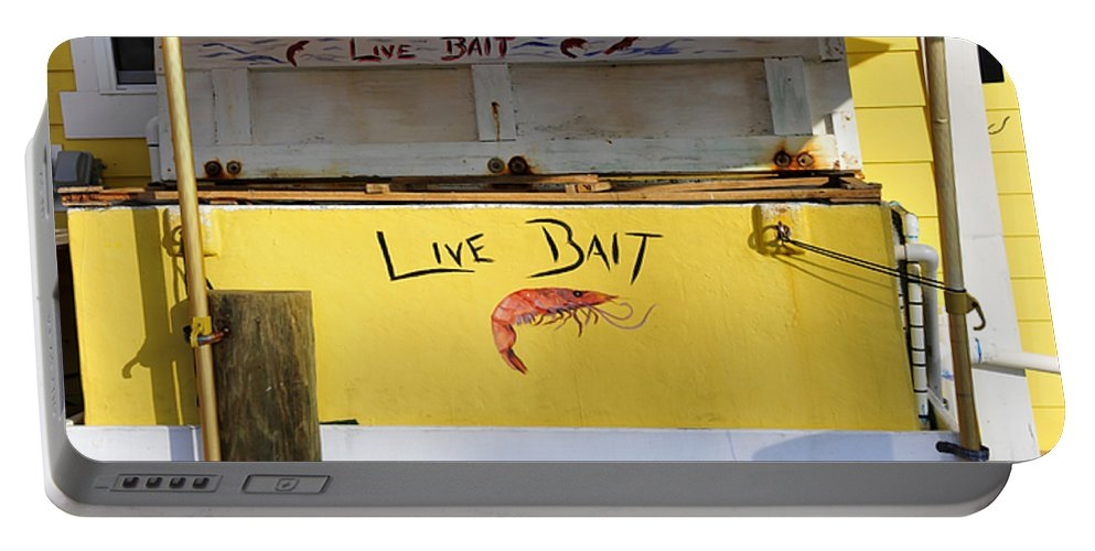 Fine Art Photography Portable Battery Charger featuring the photograph Bait Box by David Lee Thompson