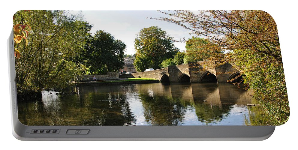 Europe Portable Battery Charger featuring the photograph Bakewell Bridge And The River Wye by Rod Johnson