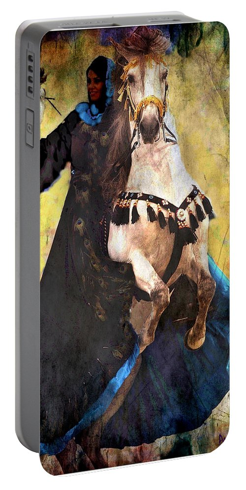 Rearing Horse Portable Battery Charger featuring the photograph Bakhtiari Falconess by Anastasia Savage Ealy
