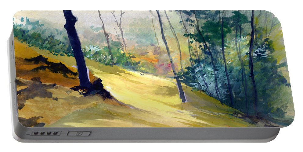Landscape Portable Battery Charger featuring the painting Balance by Anil Nene