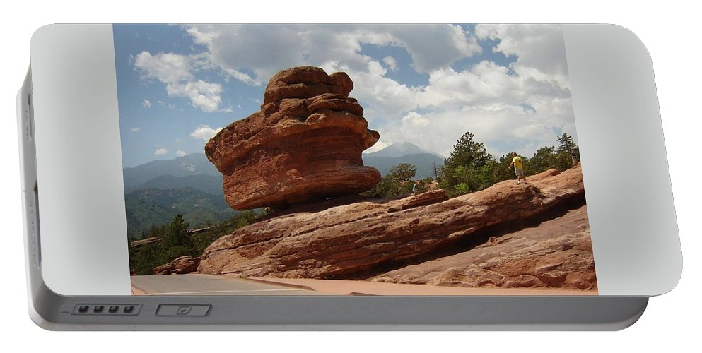 Colorado Portable Battery Charger featuring the photograph Balance Rock by Anita Burgermeister
