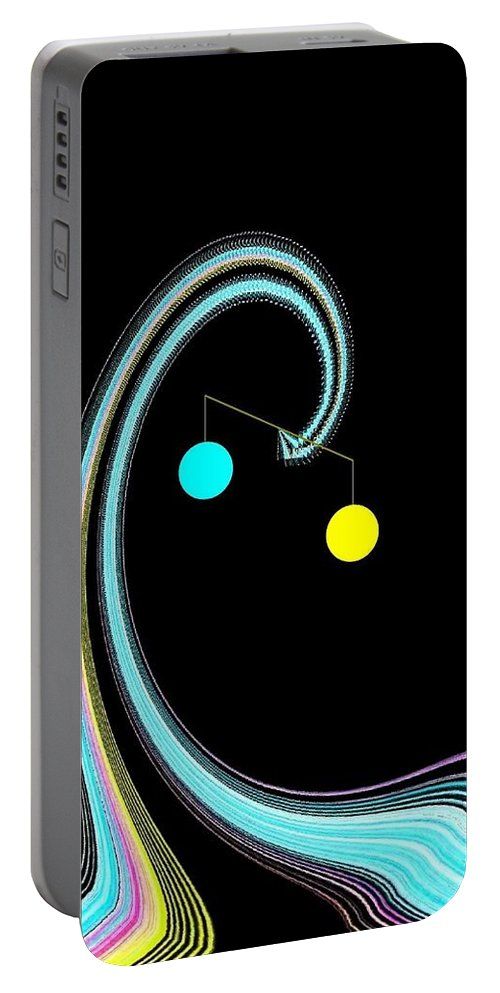 Abstract Portable Battery Charger featuring the digital art Balance by Will Borden