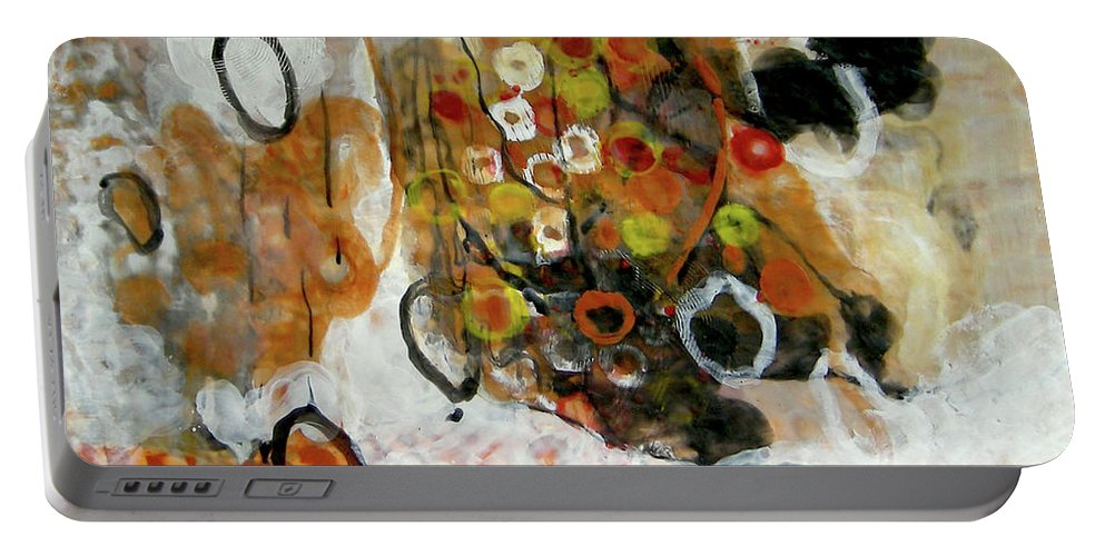 Balance Portable Battery Charger featuring the painting Balancing Freedom-1 by Antoaneta Melnikova- Hillman