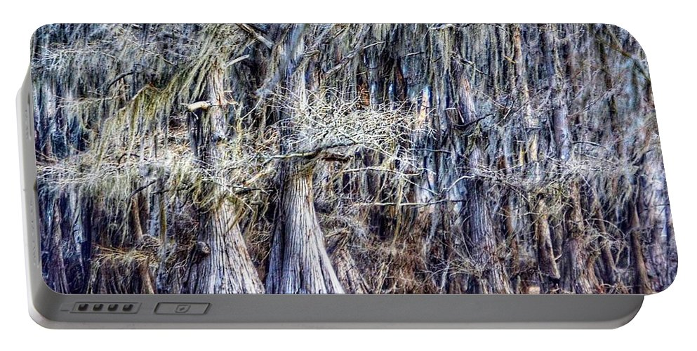 Caddo Lake Portable Battery Charger featuring the photograph Bald Cypress In Caddo Lake by Sumoflam Photography