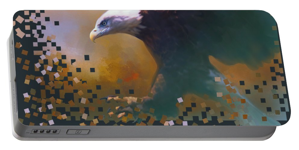Eagle Portable Battery Charger featuring the photograph Bald Eagle Landing by Barbara Hymer