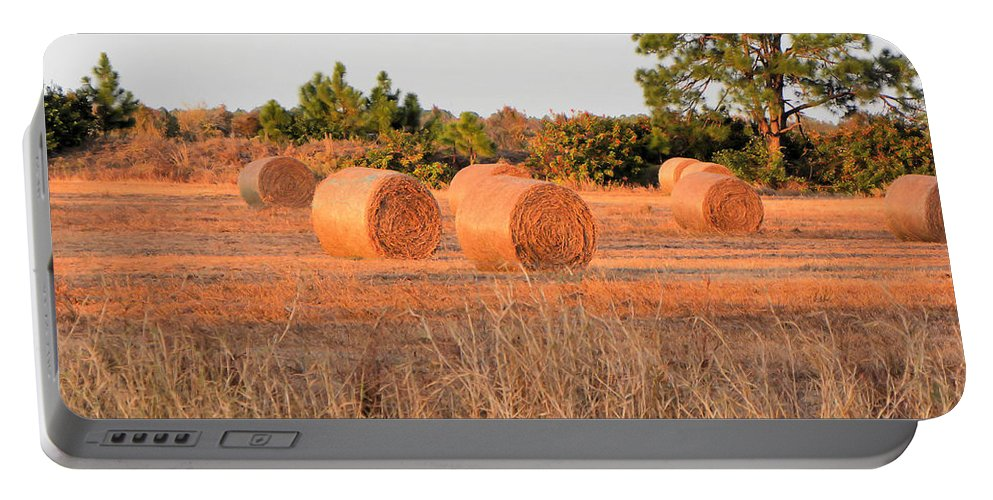 Bales Portable Battery Charger featuring the photograph Bales by Rosalie Scanlon