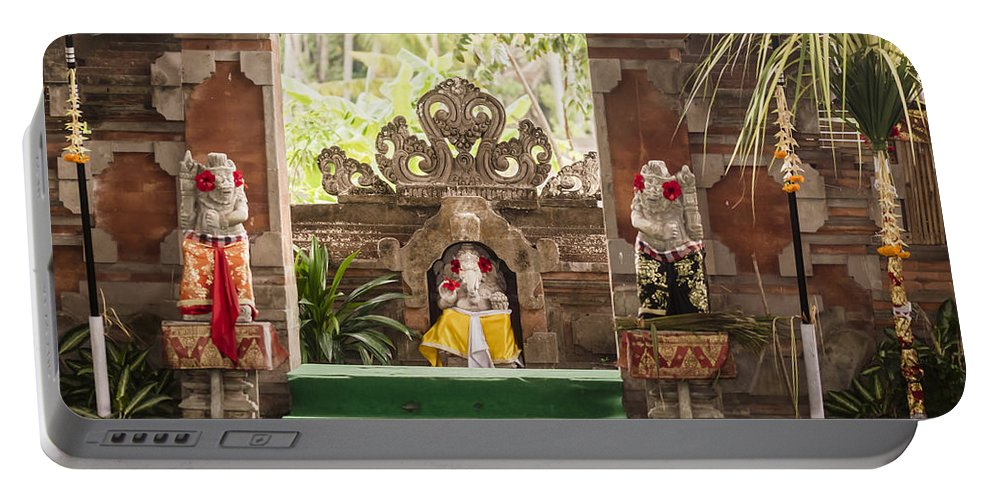 Architecture Portable Battery Charger featuring the photograph Bali Stage by Jijo George