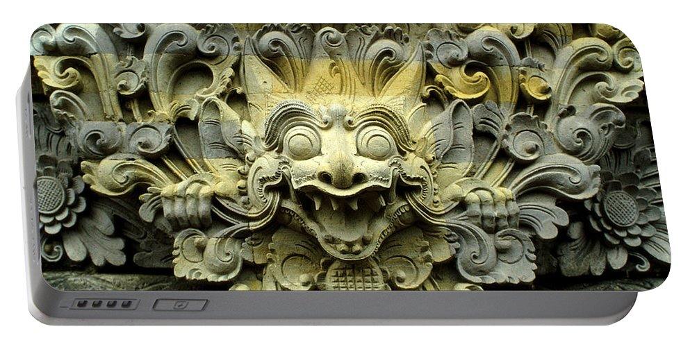 Bali Portable Battery Charger featuring the photograph Bali Temple Art by Jerry McElroy