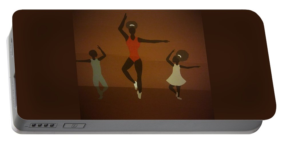 Ballerina Portable Battery Charger featuring the painting Ballerina by Demarco Kelly