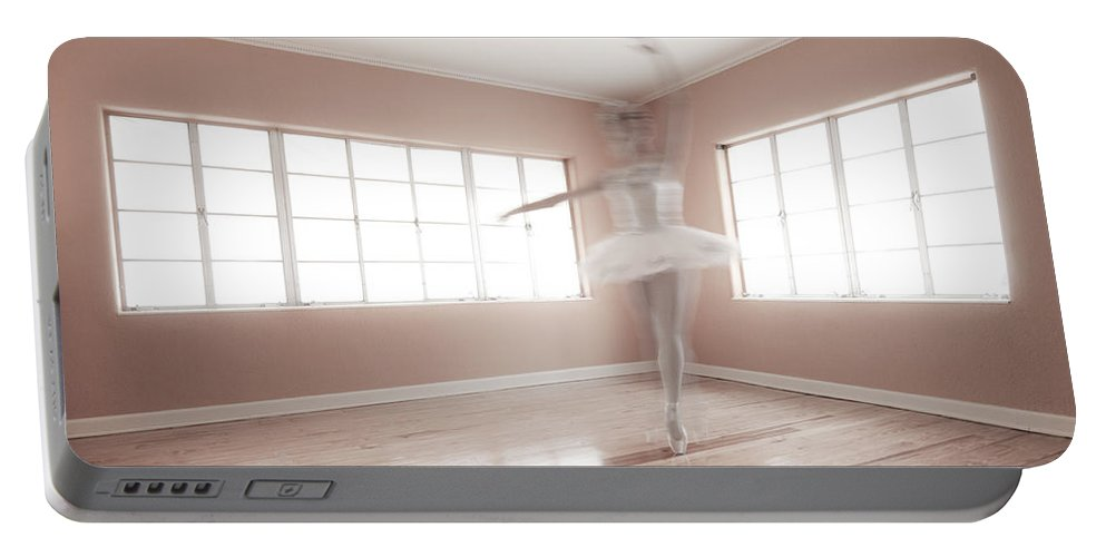 Ballerina Portable Battery Charger featuring the photograph Ballerina Ghost by Steve Williams
