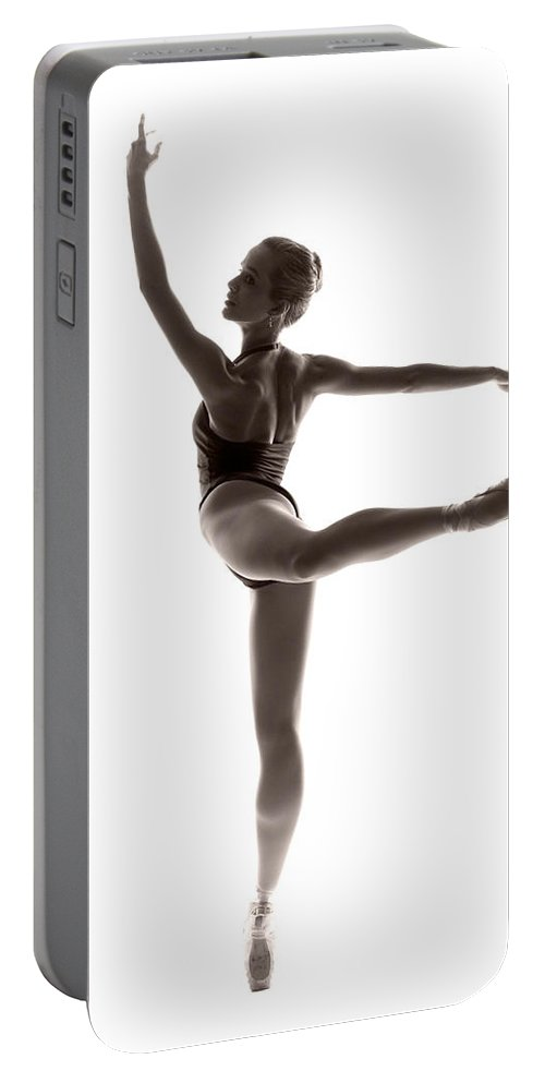 Ballerina Portable Battery Charger featuring the photograph Ballerina Grace by Steve Williams