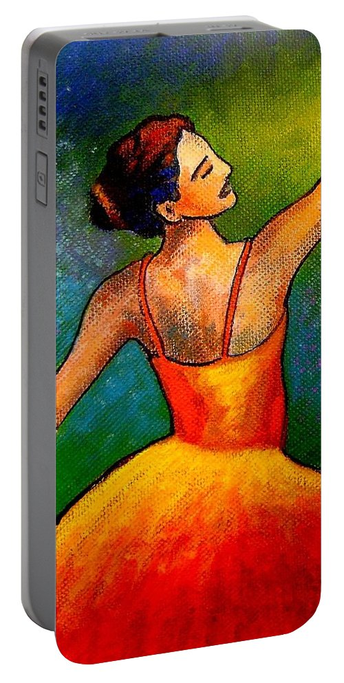 Ballerina Portable Battery Charger featuring the painting Ballerina by John Nolan