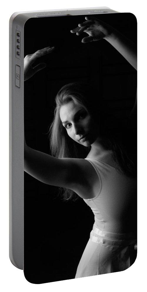 Ballerina Portable Battery Charger featuring the photograph Ballerina by Martin Capek